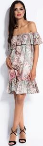 Sukienka Dursi z krótkim rękawem hiszpanka mini