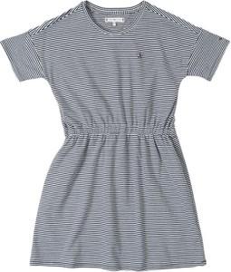 Sukienka dziewczęca Tommy Hilfiger w paseczki z tkaniny