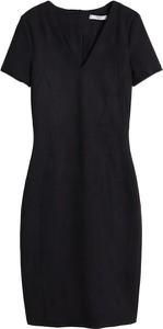 Czarna sukienka Mango z krótkim rękawem w stylu casual