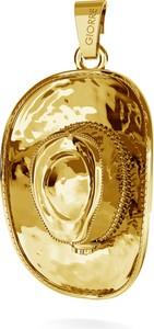 GIORRE KAPELUSZ KOWBOJSKI SREBRNY CHARMS ZAWIESZKA BEADS 925 : Kolor pokrycia srebra - Pokrycie Żółtym 24K Złotem, Wariant - Zawieszka
