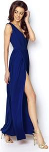 Sukienka Ivon na ramiączkach maxi z dekoltem w kształcie litery v