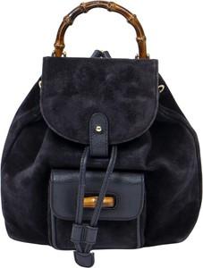 Niebieski plecak Gucci ze skóry