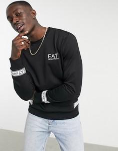 Czarna bluza Emporio Armani z dresówki