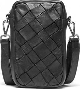 Czarna torba Depeche ze skóry