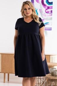 Czarna sukienka KARKO mini z dekoltem w kształcie litery v