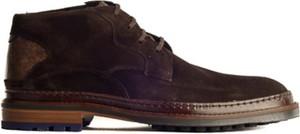 Brązowe buty zimowe Floris Van Bommel sznurowane