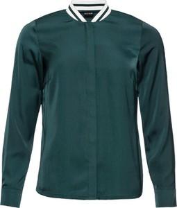Zielona koszula bonprix RAINBOW z długim rękawem ze stójką