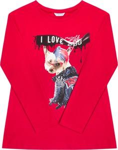 Czerwona bluzka dziecięca Mayoral z długim rękawem