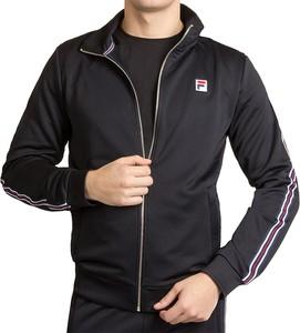 Czarna bluza Fila w sportowym stylu z dzianiny