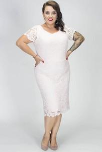 Sukienka Grandio ołówkowa z krótkim rękawem midi