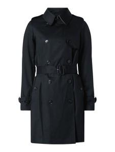 Czarny płaszcz Esprit z bawełny