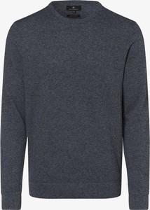 Niebieski sweter Nils Sundström z dzianiny w stylu casual