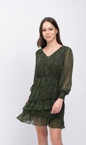 Zielona sukienka Justmelove mini z długim rękawem