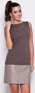 Fioletowa sukienka Katrus mini bez rękawów w stylu casual