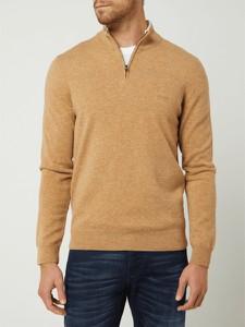 Sweter Hugo Boss ze stójką z wełny w stylu casual