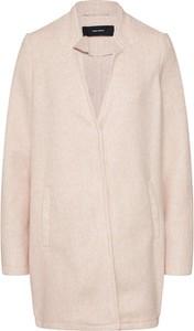 Różowy płaszcz Vero Moda w stylu casual z dżerseju