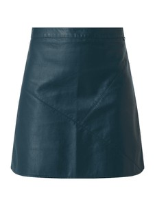 Zielona spódnica Tom Tailor Denim ze skóry mini w stylu casual