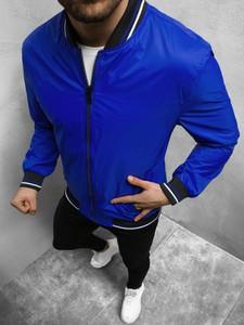 Niebieska kurtka ozonee.pl krótka
