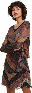 Sukienka amazon.de dla puszystych mini z długim rękawem