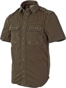 Brązowa koszula Surplus z krótkim rękawem z bawełny