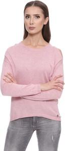 Różowy sweter Pepe Jeans w stylu casual