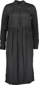 Czarna sukienka Vero Moda z długim rękawem z golfem
