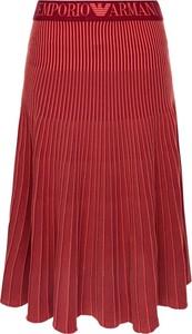 Czerwona spódnica Emporio Armani w stylu casual