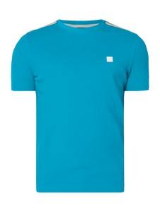Niebieski t-shirt BOSS Casual z bawełny