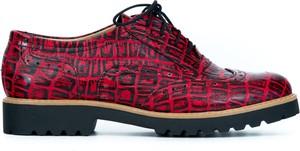Półbuty Zapato sznurowane w stylu retro