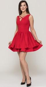 Czerwona sukienka VISSAVI mini