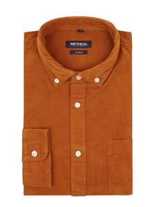 Pomarańczowa koszula McNeal z bawełny z kołnierzykiem button down z długim rękawem