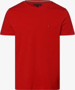 Czerwony t-shirt Tommy Hilfiger z krótkim rękawem