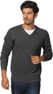 Czarny sweter William De Faye z jedwabiu
