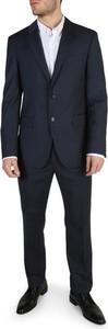 Niebieski garnitur Tommy Hilfiger z wełny