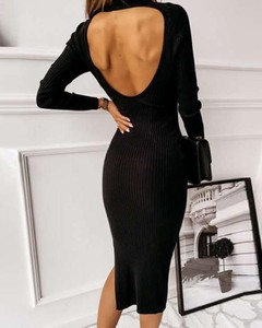 Sukienka Kendallme dopasowana z dekoltem w kształcie litery v maxi