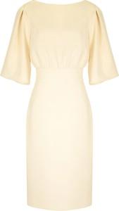 Sukienka Kasia Zapała mini z krótkim rękawem z okrągłym dekoltem