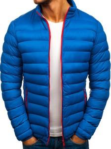 Niebieska kurtka Denley w street stylu