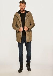 Brązowy płaszcz męski Selected w stylu casual