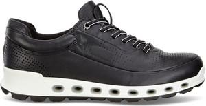 Czarne buty sportowe Ecco sznurowane z goretexu