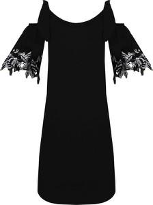 Sukienka Pinko z tkaniny z krótkim rękawem midi