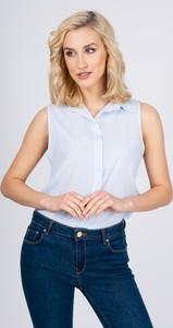 Niebieska koszula Zoio bez rękawów