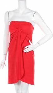 Czerwona sukienka Ralph Lauren bez rękawów gorsetowa