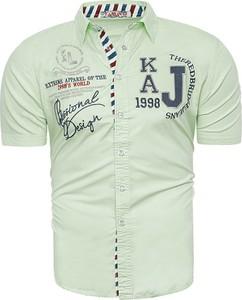 Koszula Risardi z krótkim rękawem z klasycznym kołnierzykiem w młodzieżowym stylu