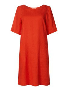 Sukienka Christian Berg Women z okrągłym dekoltem z lnu