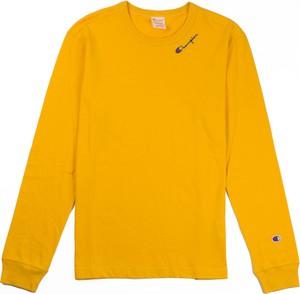 Żółta koszulka z długim rękawem Champion z długim rękawem