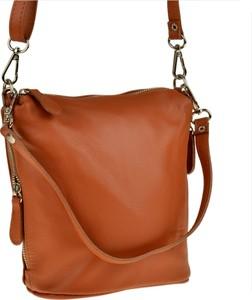 Brązowa torebka Real Leather w stylu boho mała
