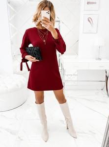 Sukienka Pakuten z długim rękawem trapezowa mini