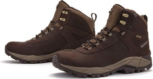 Brązowe buty trekkingowe Merrell z nubuku