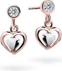 Cutie jewellery kolczyki dla dzieci cutie c1604 serca złota wzrosła, zamykając balon