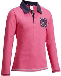 Różowa koszulka dziecięca Fouganza z długim rękawem